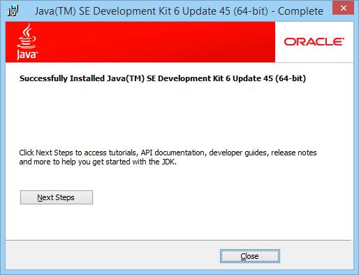 Java Installer Close