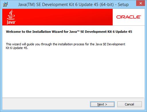 Java Setup Start