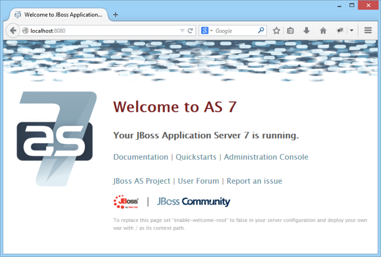 JBoss Server Running