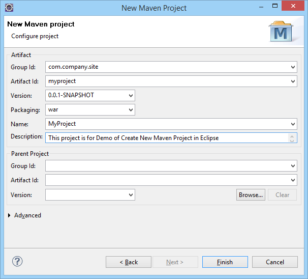 Configure Maven Project in Eclipse