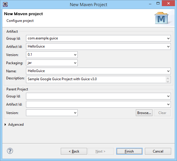 HelloGuice Maven Project