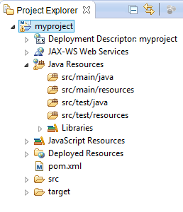 Maven Project Structure in Eclipse
