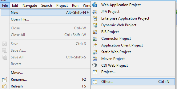 Create Maven Project _File _New _Other