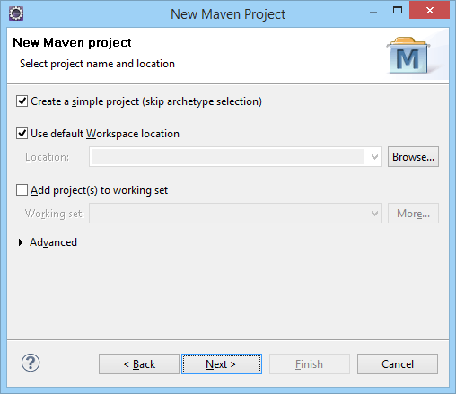 New Maven Project Name