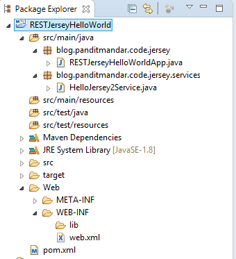 Jersey2 RESTful Web Service Java Maven Project