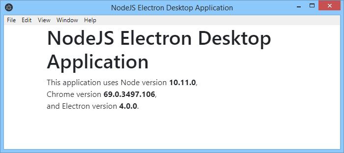 Electron JS Desktop Application Result