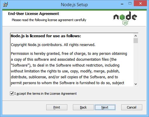 NodeJS End-User License Agreement