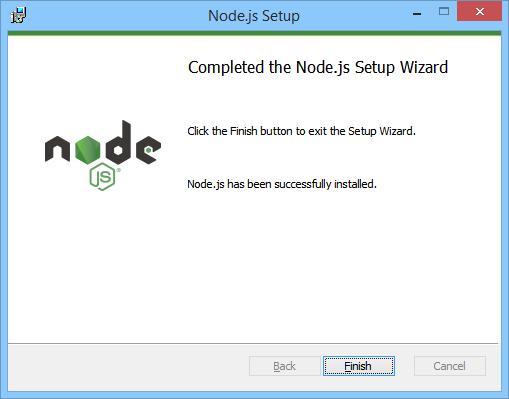 NodeJS Install Finish