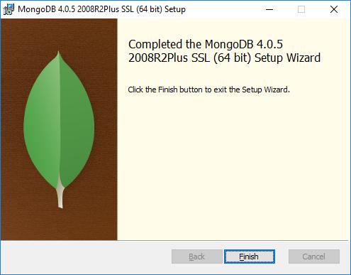 MongoDB Install Finish